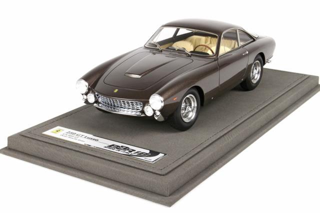 [予約] BBR 1/18 フェラーリ 250 GT ルッソ S.マックウィーン ブラウンメタリック ディスプレイケース付き CARS1818