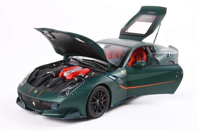 [予約] BBR 1/18 フェラーリ F12 TDF プライベートワンオフモデル グリーン 182105DIE