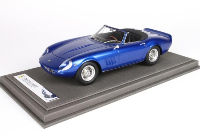 [予約] BBR 1/18 フェラーリ 275 GTS/4 NART S.マックウィーン ブルーメタリック 限定200台 ディスプレイケース付き BBR1824