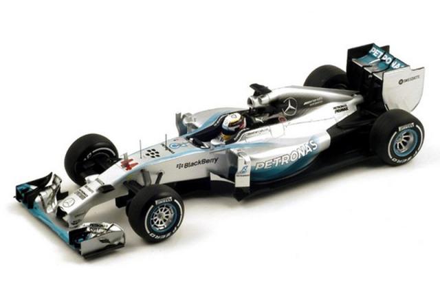 スパーク 1/18 メルセデス F1 W05 イギリスGP 2014 Winner L.ハミルトン 18S138