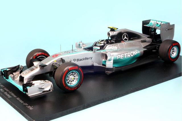 スパーク 1/18 メルセデス F1 W05 モナコGP 2014 Winner N.ロズベルグ 18S141