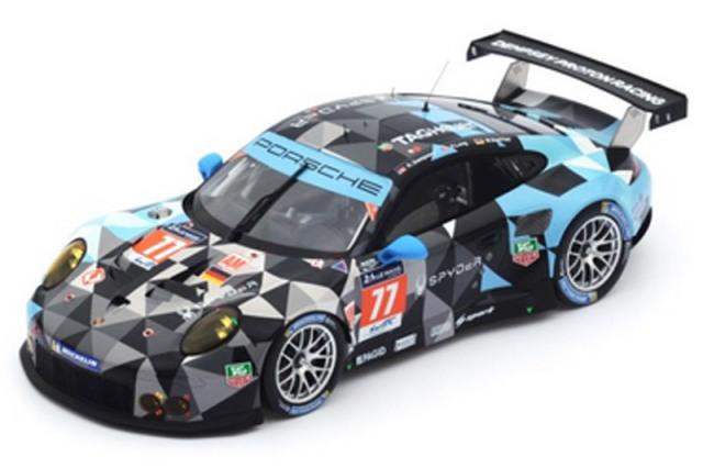 スパーク 1/18 ポルシェ 911 RSR ルマン 24h 2015 LMGTE Am No.77 18S196