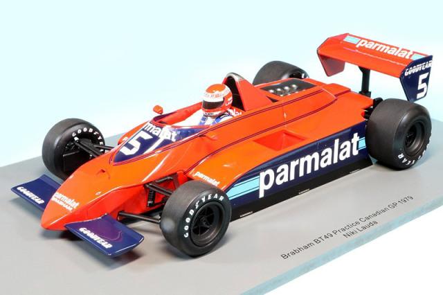 スパーク 1/18 ブラバム BT49 カナダGP 1979 プラクティス N.ラウダ 18S296