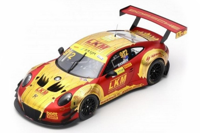 スパーク 1/18 ポルシェ 911 GT3 R Manthey-Racing  FIA GT マカオGP 2018 No.912 18SA020