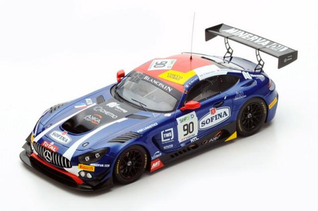 スパーク 1/18 メルセデス AMG GT3 AKKA ASP スパ 24h 2017 No.90 18SB008