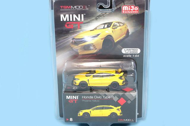 U.S.A.限定MINI-GT 1/64 ホンダ シビック タイプR FK8 フェニックスイエロー (左ハンドル) MGT00008-MJ MGT00008-MJ MGT00008-MJ