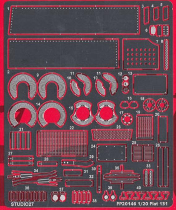 スタジオ27 1/20 フィアット 131 グレードアップパーツ (タミヤ対応) FP20146