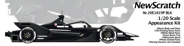 ニュースクラッチ 1/20 レジン&3Dパーツキット ポルシェ フォーミュラーE GEN2 2018-2019 テストカー 20E1819PBLK