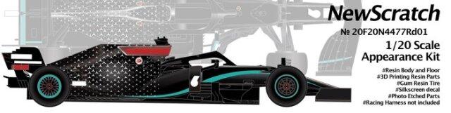 [予約 ] ニュースクラッチ 1/20 レジン&3Dパーツキット メルセデス AMG W11 Rd.1-Rd.5 2020 L.ハミルトン/V.ボッタス 20F20N4477Rd01