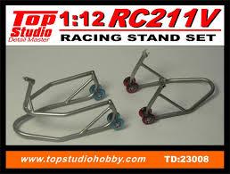 トップスタジオ 1/12 ホンダ RC211V 用 バイクスタンド 前後セット TD23008