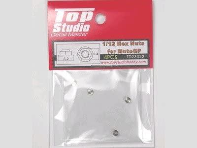 トップスタジオ 1/12 6角ナット 4個入り モトGP用 TD23022