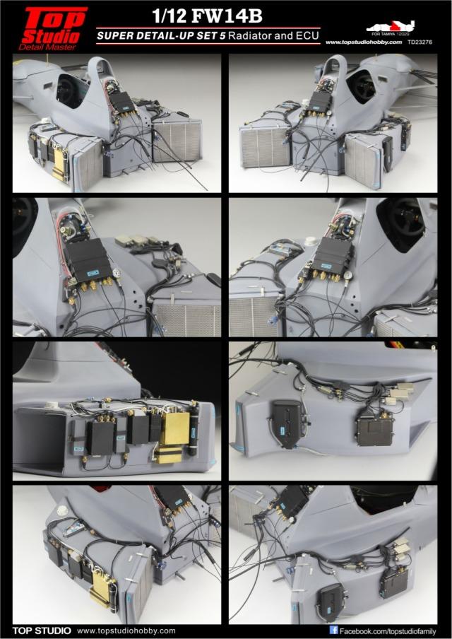 トップスタジオ 1/12 ウィリアムズ FW14B ラジエター & ECU ディティールアップパーツ TD23276