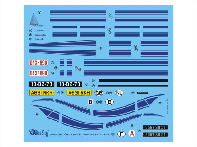 ブルースタッフ 1/24 シトロエン 2CV 1984 ドレスアップデカール (タミヤ対応) 24-006