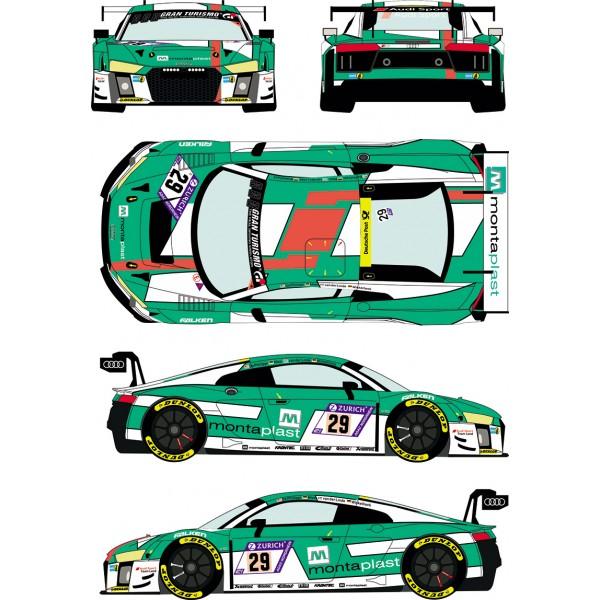 [予約] レーシングデカールズ 1/24 アウディ R8 LMS GT3 ニュル 24h 2017 No.29 フルスポンサーデカール nunu対応 RDE24-033