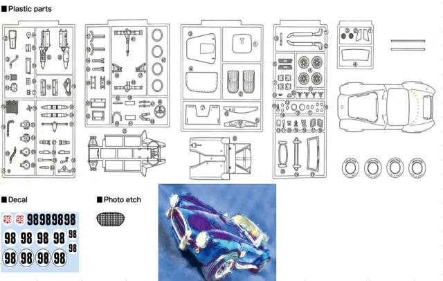 GTM models 1/25 プラモデル シェルビー AC コブラ ケン•マイルズ レース仕様 GTM24001
