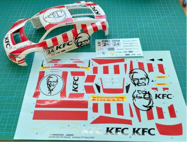 "LBプロダクション 1/24 アウディ R8 LMS ""KFC"" オーストラリアGTトロフィー 2020 No.24 フルスポンサーデカール (NuNu対応) LB24020"