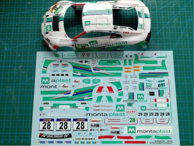 LBプロダクション 1/24 アウディ R8 LMS ADAC GT マスター 2016 チャンピオン No.29 / VLN 2016 チャンピオン No.28 フルスポンサーデカール (NuNu対応) LB24028