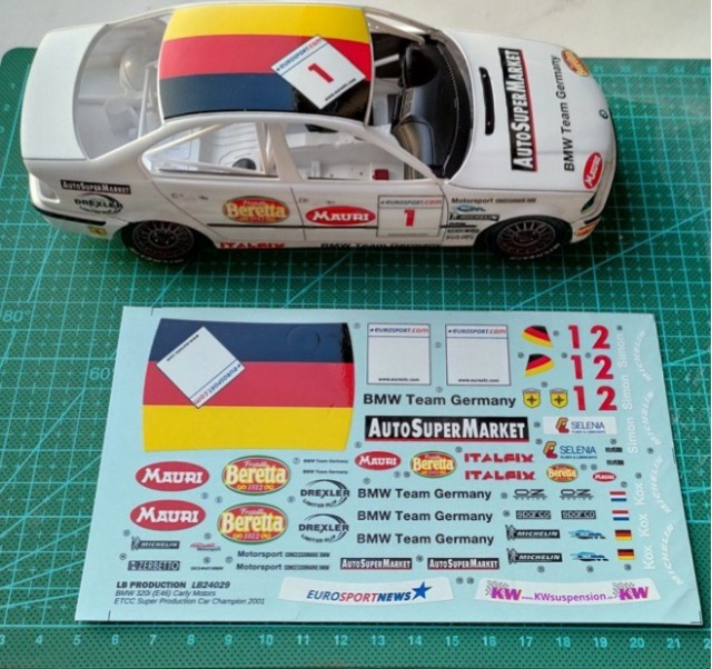 LBプロダクション 1/24 BMW E46 ETCC スーパープロダクションカー チャンピオン 2001 No.1 フルスポンサーデカール NuNu対応 LB24029