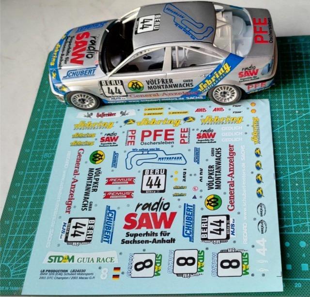 LBプロダクション 1/24 BMW E46 DTC チャンピオン 2001 No.44 / マカオ GP 2001 No.8 フルスポンサーデカール NuNu対応 LB24030