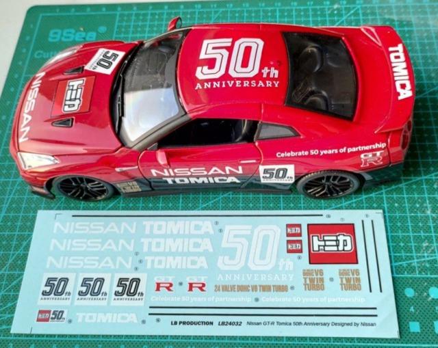 LBプロダクション 1/24 ニッサン GT-R R35 トミカ 50周年 デザイン フルスポンサーデカール LB24032