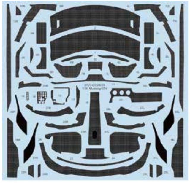 スタジオ27 1/24 フォード マスタング GT4 カーボンデカール (タミヤ対応) CD24038