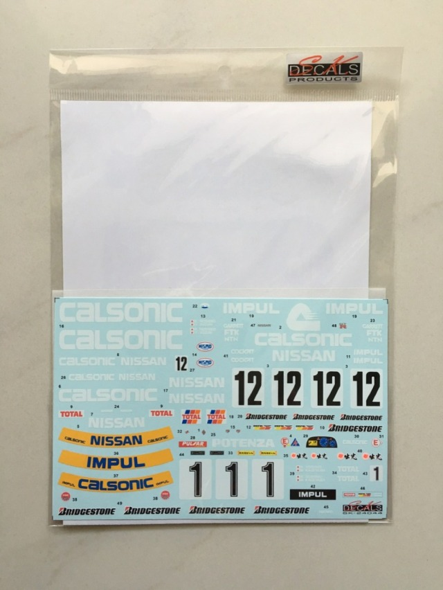 SK Decal 1/24 カルソニック ニッサン スカイライン GT-R Gr.A JTC フルスポンサーデカール SK24044