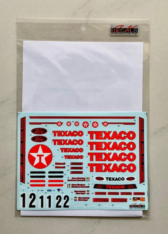 SK Decal 1/24 フォード シエラ RS500 テキサコ 1988 No.1/2 フルスポンサーデカール (タミヤ対応) SK24059