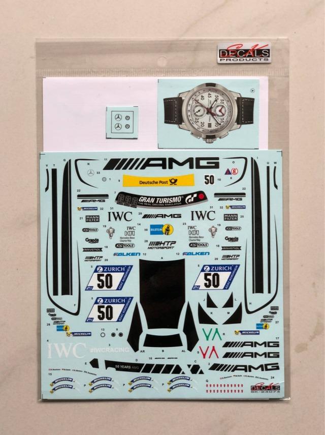 SK Decal 1/24 メルセデス AMG GT ニュル 24h 2017 No.5 フルスポンサーデカール (タミヤ対応) SK24074