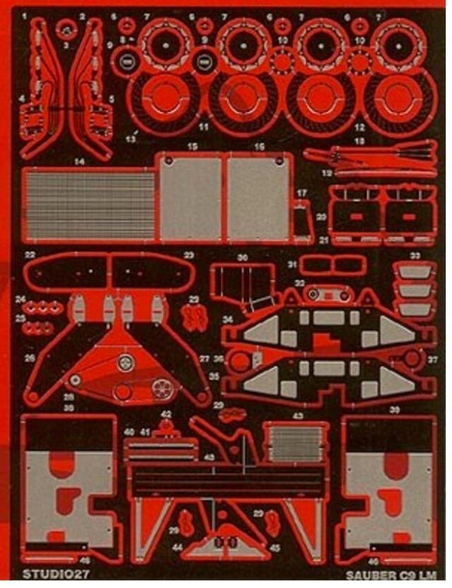 スタジオ27  1/24 ザウバー C9 グレードアップパーツ タミヤ対応 FP2412R
