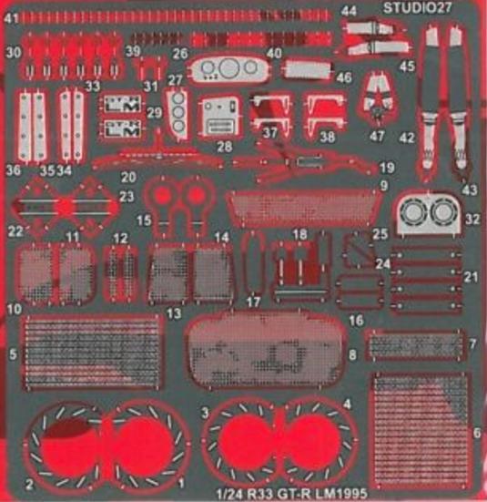 スタジオ27 1/24 フェラーリ FXX グレードアップパーツ タミヤ対応 FP24107