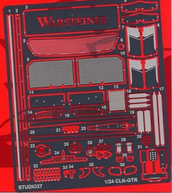 スタジオ27 1/24 メルセデス CLK-GTR グレードアップパーツ (タミヤ対応) FP2498