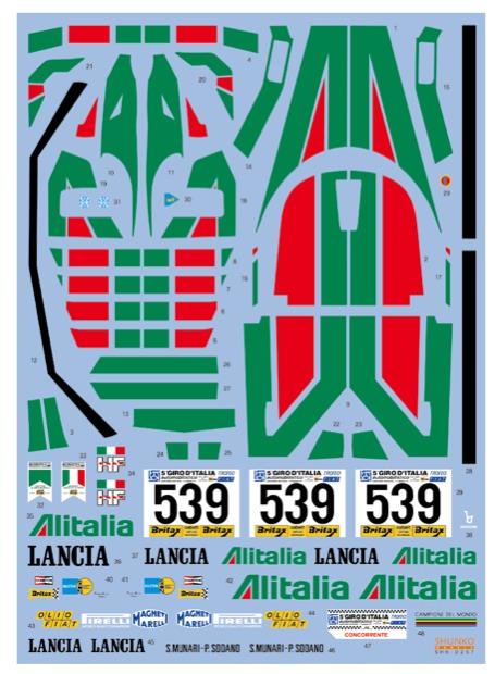 シュンコーモデル 1/24 ランチア ストラトス ターボ アリタリア 1977 フルスポンサーデカール (タミヤ対応) SHK-D257