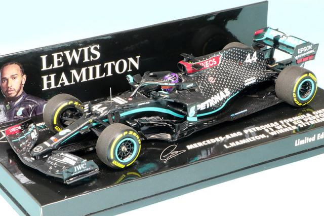 ミニチャンプス 1/43 メルセデス AMG ペトロナス F1チーム W11 EQパフォーマンス シュタイアーマルクGP 2020 Winner L.ハミルトン 410200244