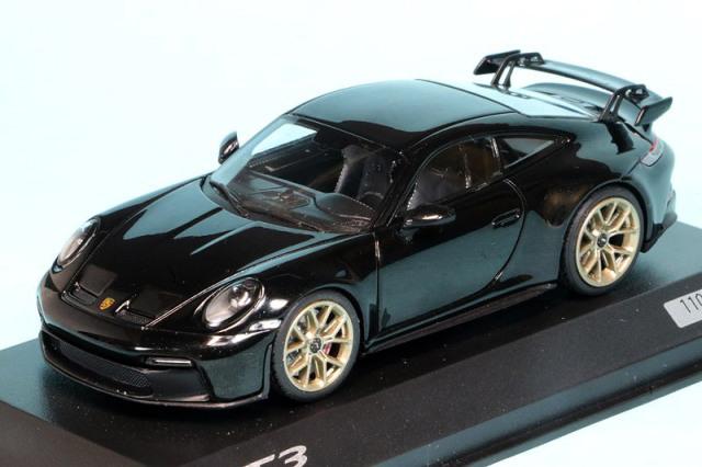 [予約] ポルシェ特注ミニチャンプス 1/43 ポルシェ 911 GT3 ジェットブラックメタル 413069205