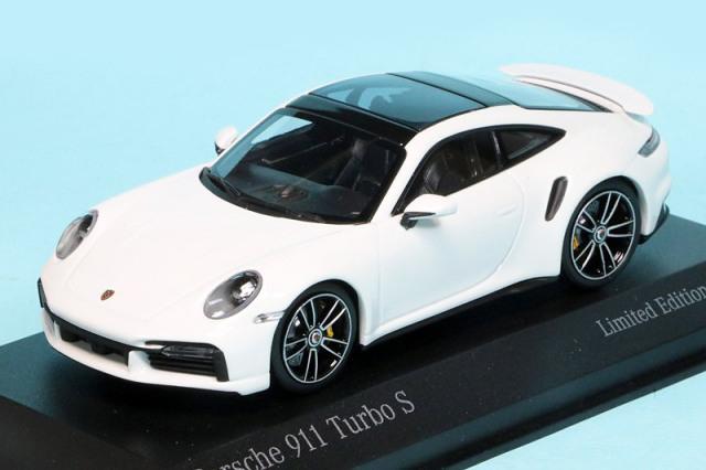 [予約] 海外ショップ特注ミニチャンプス 1/43 ポルシェ 911 ターボ S 2020 ホワイト/シルバーホイール 413069476