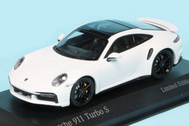[予約] 海外ショップ特注ミニチャンプス 1/43 ポルシェ 911 ターボ S 2020 ホワイト/ブラックホイール 413069477