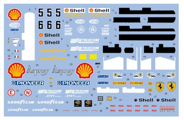 シュンコーモデル 1/20 フェラーリ F310B カナダ/日本GP 1997 フルスポンサーデカール タミヤ対応 SHK-D415