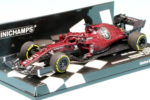 ミニチャンプス 1/43 アルファ ロメオ レーシング ザウバー F1チーム フェラーリ C38 バレンタインデーテスト 2019 K.ライコネン 417199007