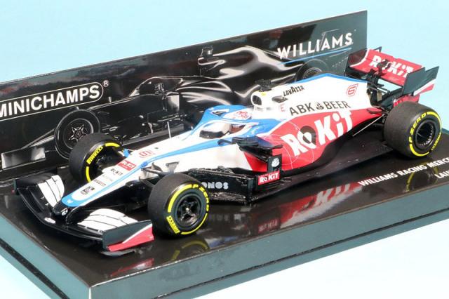 ミニチャンプス 1/43 ロキット ウィリアムズ レーシング メルセデス FW43 2020 LAUNCH SPEC N.ラティフィ 417200006