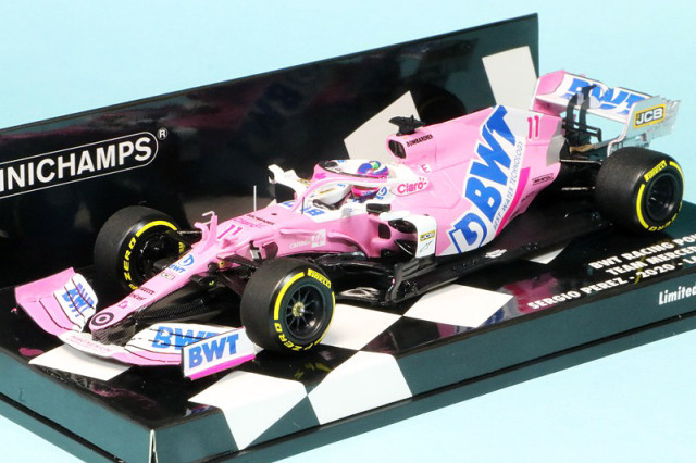 ミニチャンプス 1/43 BWT レーシング ポイント F1チーム メルセデス RP20 2020 LAUNCH SPEC S.ペレス 417200011