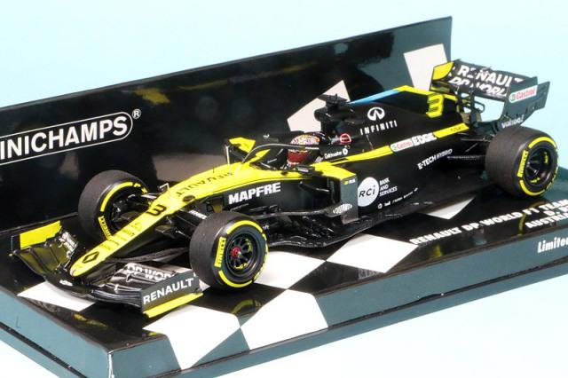 ミニチャンプス 1/43 ルノー DP ワールド F1チーム R.S.20 オーストリアGP 2020 D.リカルド 417200103