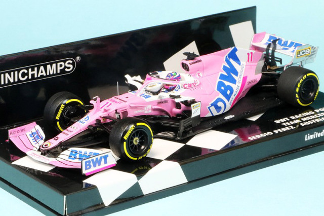 ミニチャンプス 1/43 BWT レーシング ポイント F1チーム メルセデス RP20 オーストリアGP 2020 S.ペレス 417200111