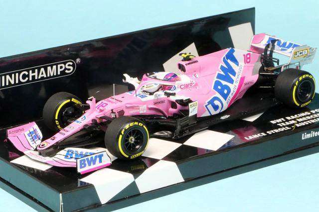 ミニチャンプス 1/43 BWT レーシング ポイント F1チーム メルセデス RP20 オーストリアGP 2020 L.ストロール 417200118