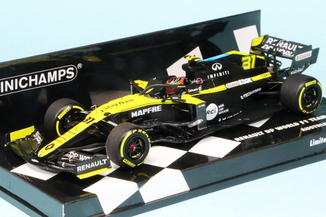 ミニチャンプス 1/43 ルノー DP ワールド F1チーム R.S.20 オーストリアGP 2020 E.オコン 417200131
