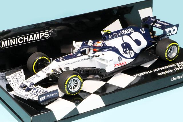 ミニチャンプス 1/43 スクーデリア アルファ タウリ レーシング ホンダ AT1 イタリアGP 2020 Winner P.ガスリー 417200810