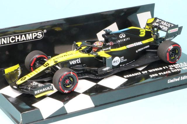 ミニチャンプス 1/43 ルノー DP ワールド F1チーム R.S.20 アイフェルGP 2020 3rd D.リカルド 417200903