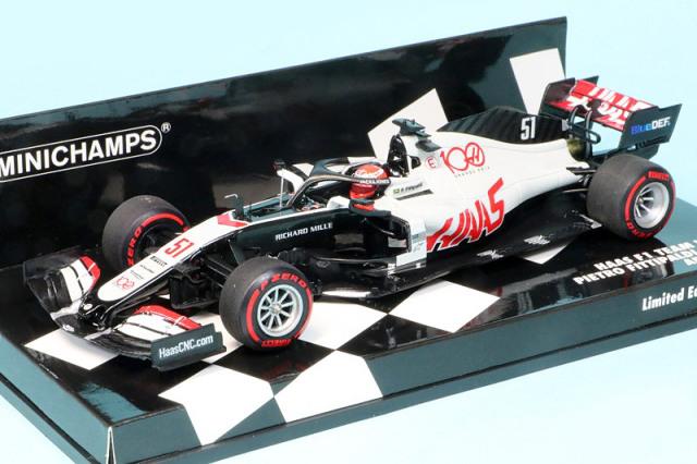 ミニチャンプス 1/43 ハース F1チーム VF-20 アブダビGP 2020 P.フィッティパルディ 417201751