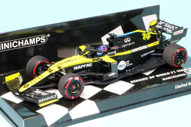 ミニチャンプス 1/43 ルノー DP ワールド F1チーム R.S.20 2020 バルセロナテスト F.アロンソ 417209914