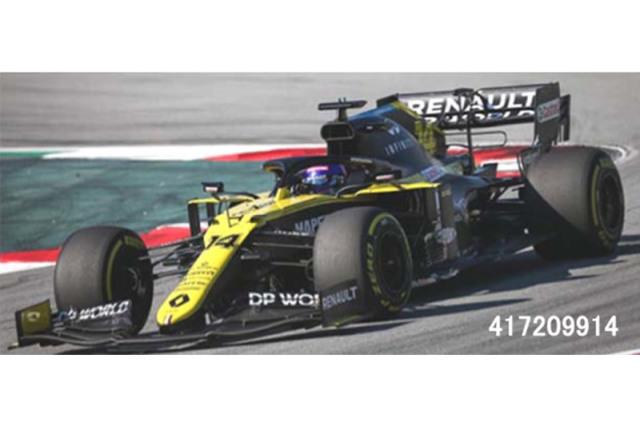 [予約] ミニチャンプス 1/43 ルノー DP ワールド F1チーム R.S.20 2020 バルセロナテスト F.アロンソ 417209914