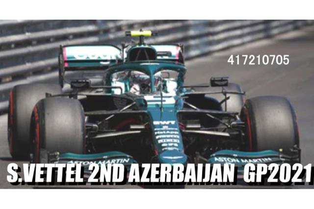 [予約] ミニチャンプス 1/43 アストン マーチン AMR21 アゼルバイジャンGP 2021 2nd S.ベッテル 417210705